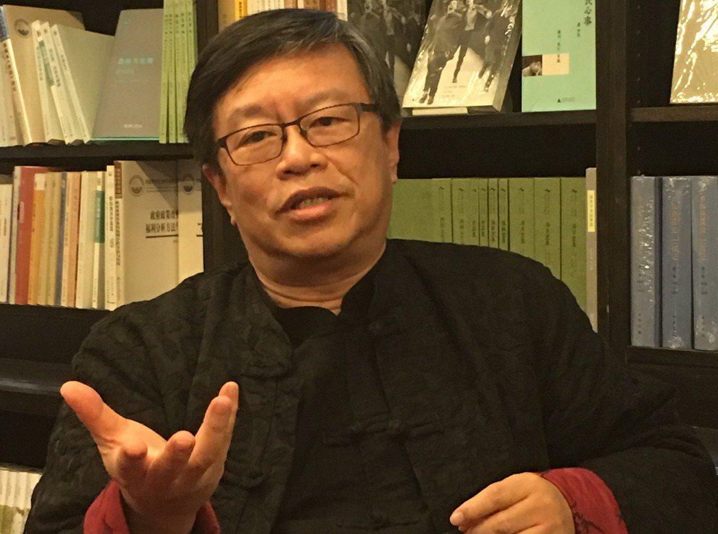 東吳大學政治系教授劉必榮。記者林庭瑤/攝影