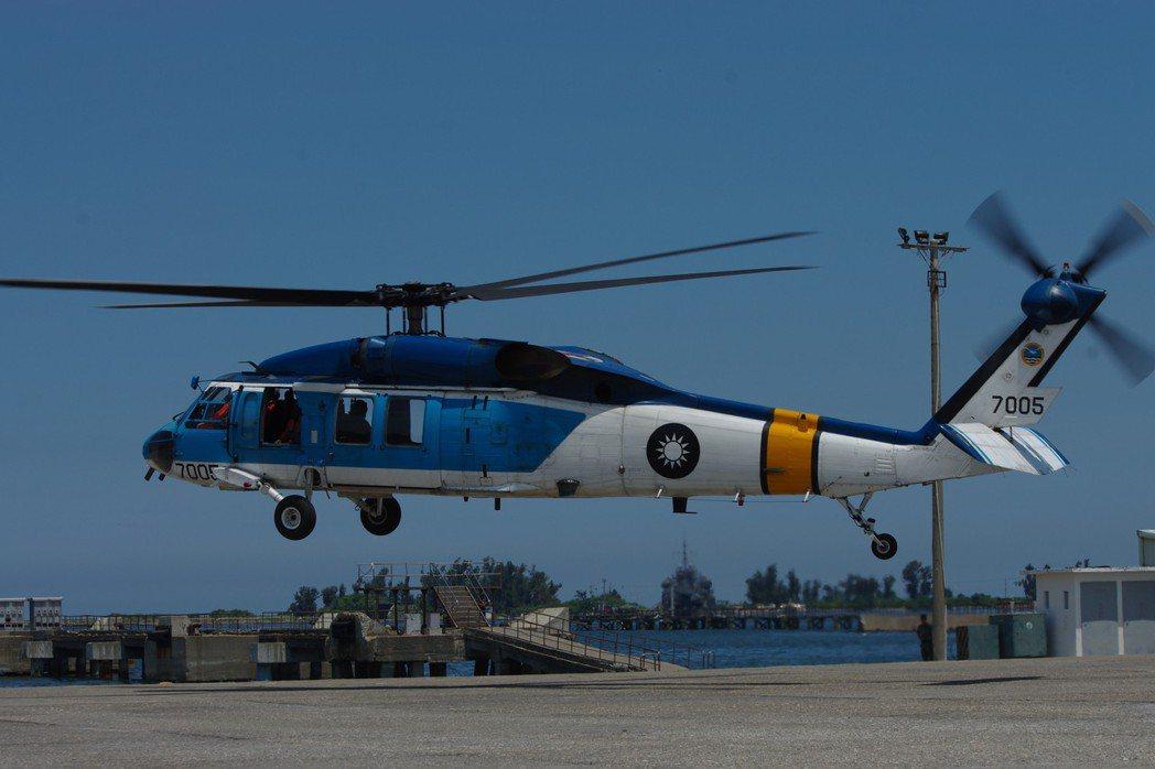 空軍S-70C直升機。 聯合報系資料照