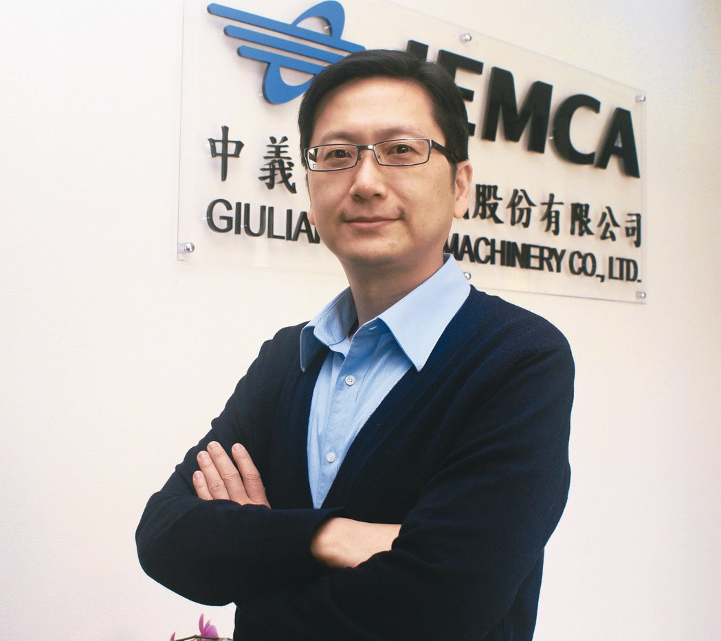 中義機械總經理李盈慶。 吳青常/攝影