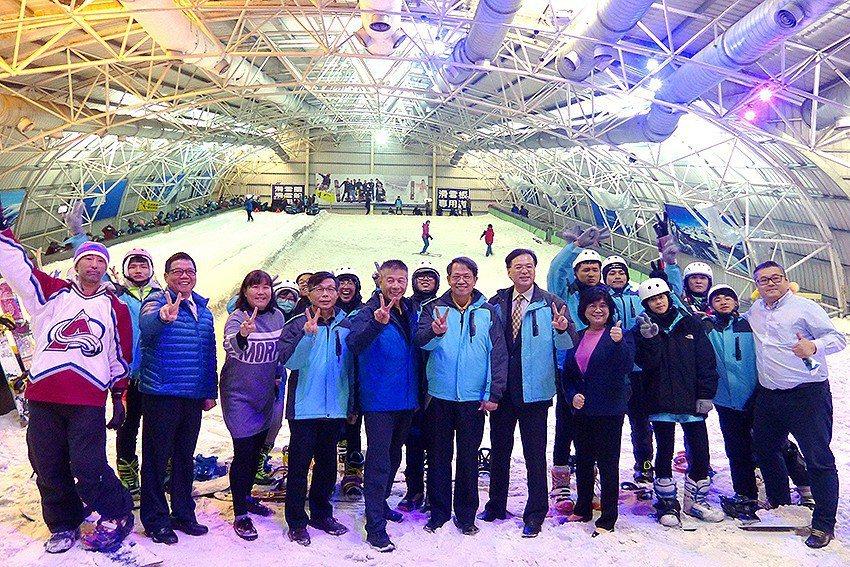 明新科大開辦滑雪培訓課程,培育滑雪運動產業人才。 明新科大/提供