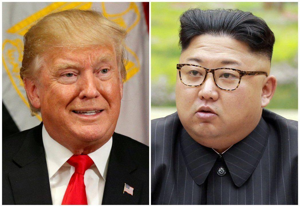 美國總統川普、北韓領導人金正恩。 路透資料照
