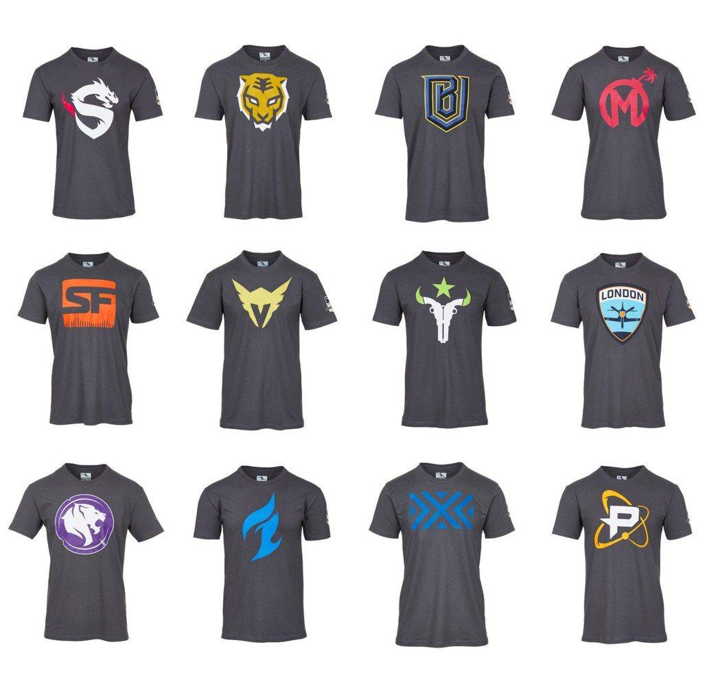 《鬥陣特攻》職業電競聯賽戰隊T-shirt。