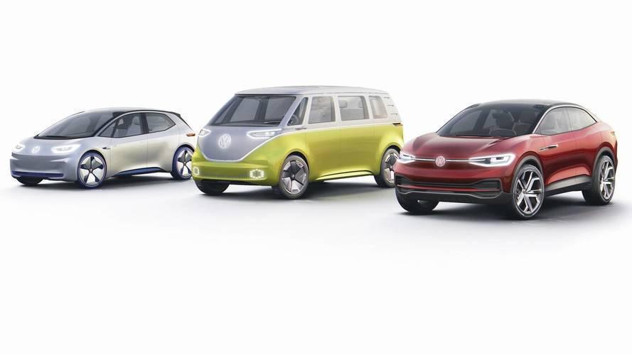 Volkswagen I.D. 系列三兄弟。 摘自Volkswagen