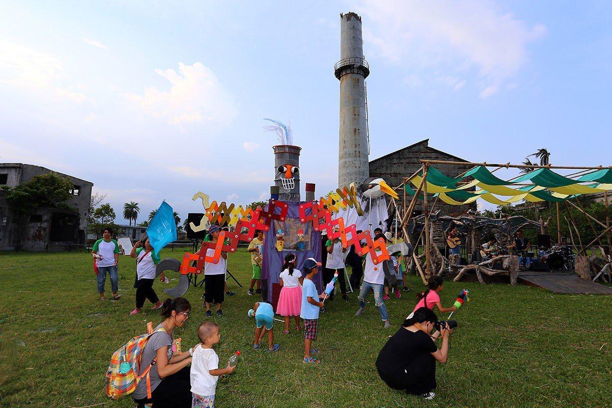 中興文化創意園區由舊紙廠搖身一變為親子旅遊勝地。