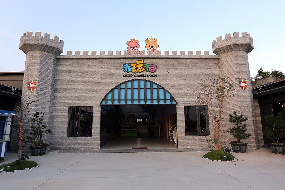 像小城堡的非玩不可親子樂遊館入口。