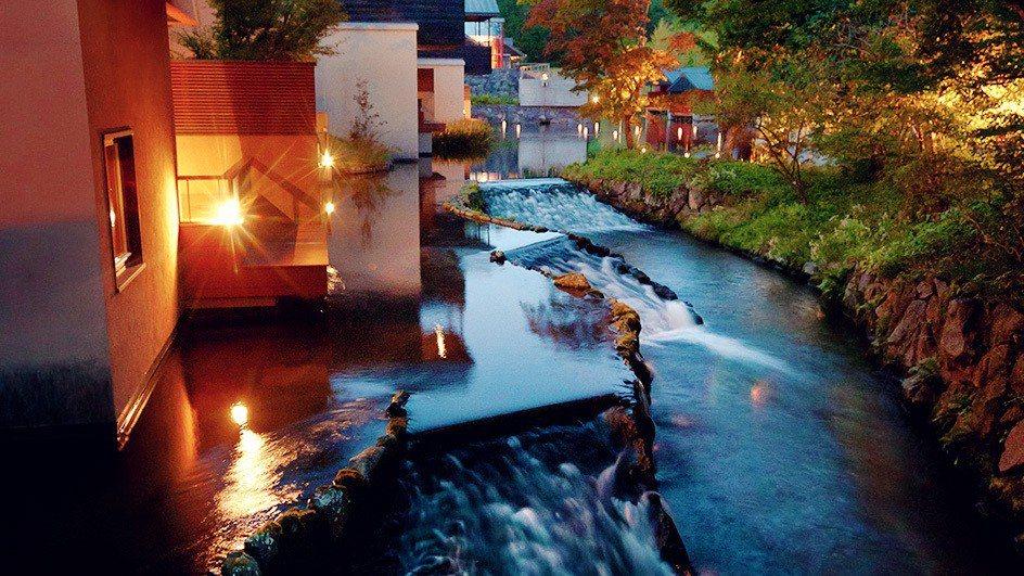 虹夕諾雅輕井澤詢問度最高的水波房河景。