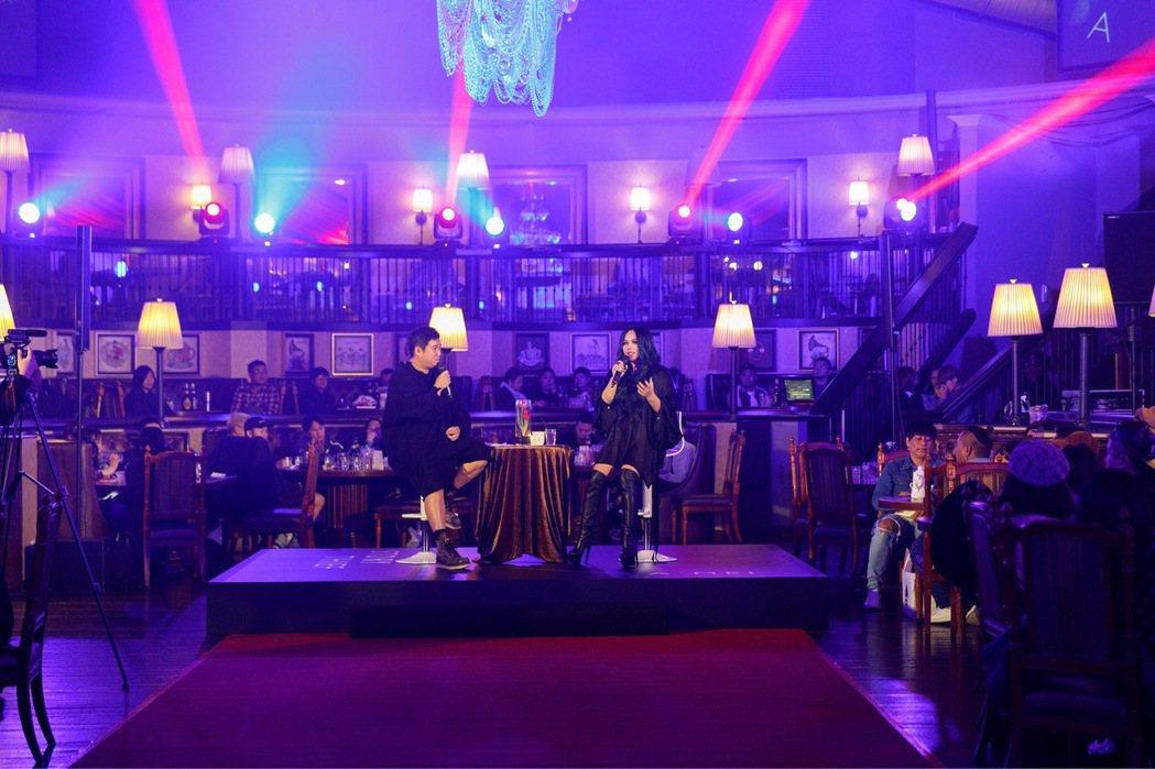 阿妹5日晚間舉辦聽歌會,一聽新歌「連名帶姓」就淚崩。圖 /EMI提供