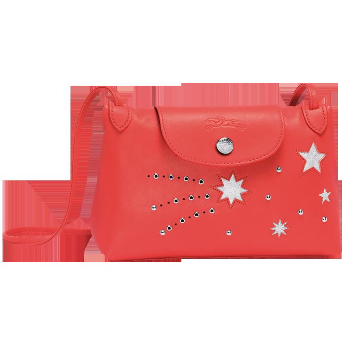 Le Pliage Cuir Étoiles系列珊瑚紅包款,售價6,120元。圖...