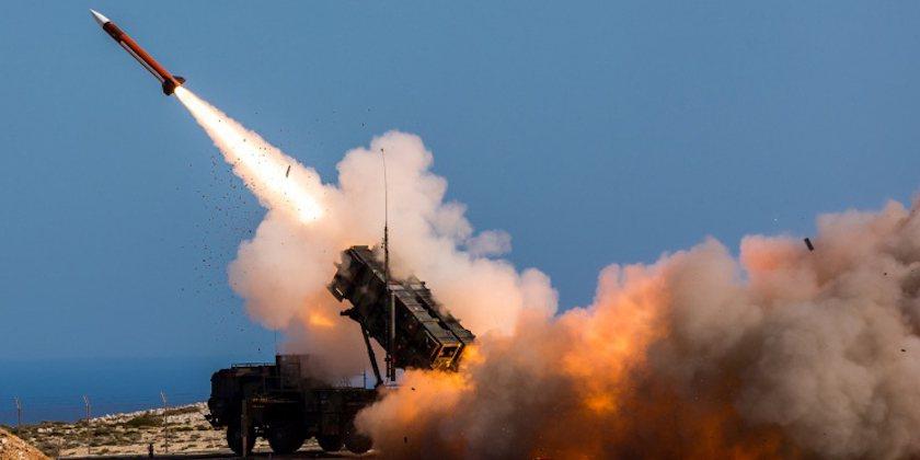 美國製的愛國者飛彈防禦系統。美聯社