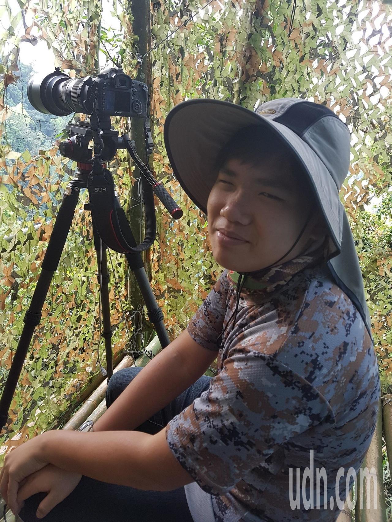 國立新化高中2年級學生楊子誼從小6開始投入鳥類攝影。圖/楊子誼提供