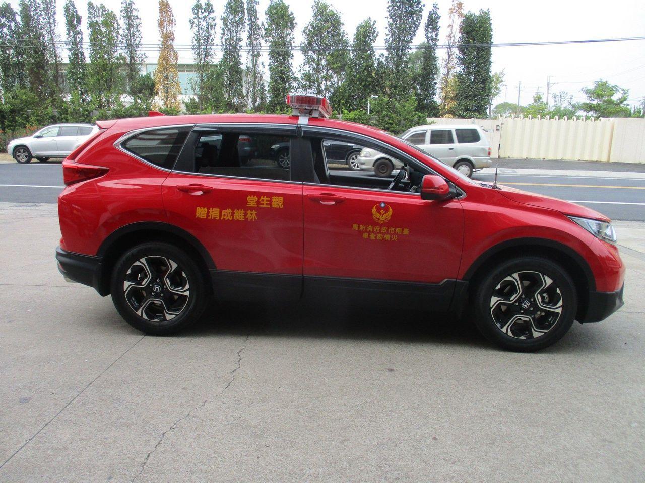 價值百萬元的災情勘查車,給新化山區救災添利器。圖/新化消防分隊提供
