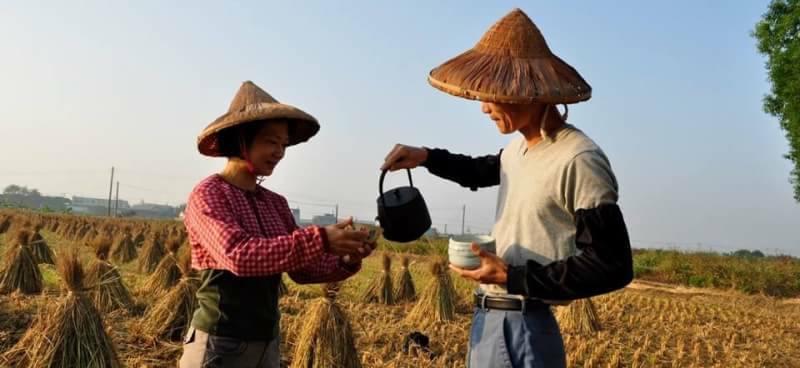 翁坤明及邱淑媛友善耕種12年。圖/呷飽麥提供