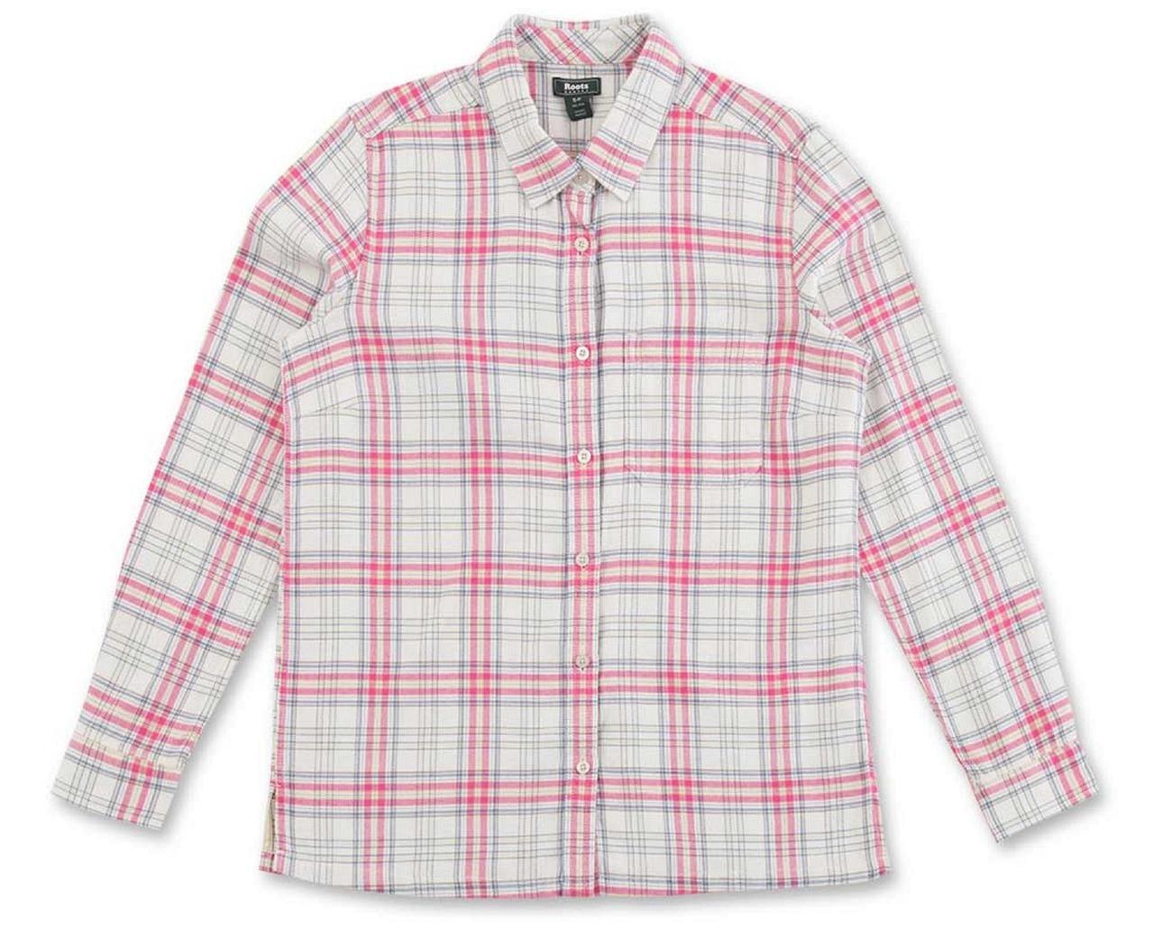 ROOTS精選女款格紋襯衫,原價2,780元,1折特價290元。圖/禮客時尚館提...