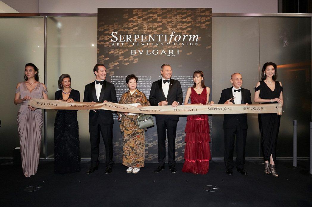 寶格麗東京SerpentiForm展覽開幕剪綵儀式,寶格麗品牌展會策展人Luci...