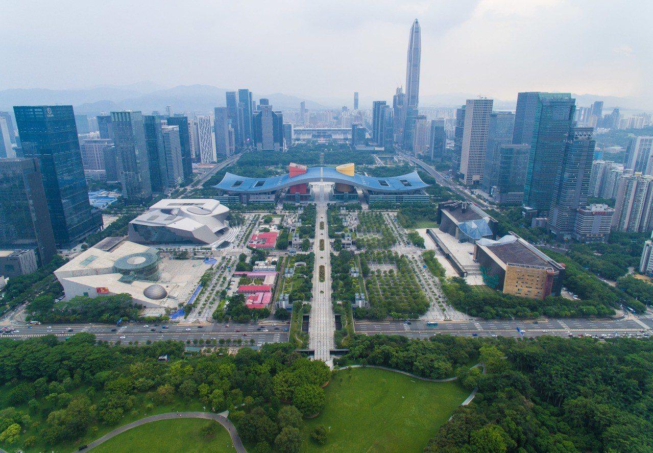 圖為深圳市中心。 新華社