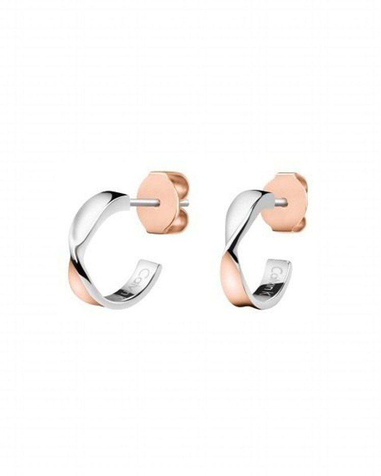 Calvin Klein Supple系列耳環,約2,300元。圖/Calvin...