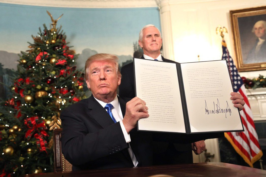 美國總統川普6日簽署宣言,正式承認耶路撒冷為以色列首都。 歐新社