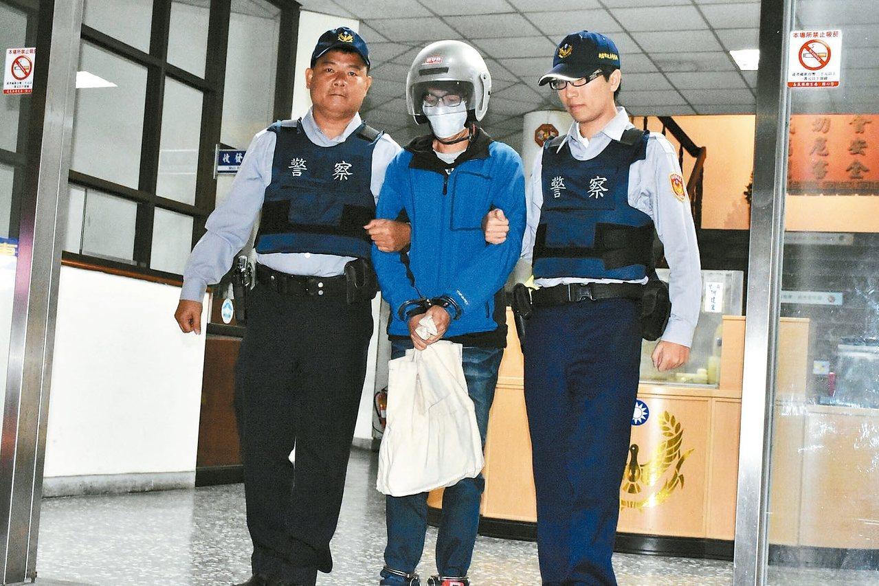 女大生遭攻擊案,警方逮捕涉案焦姓男子。 記者謝恩得/翻攝