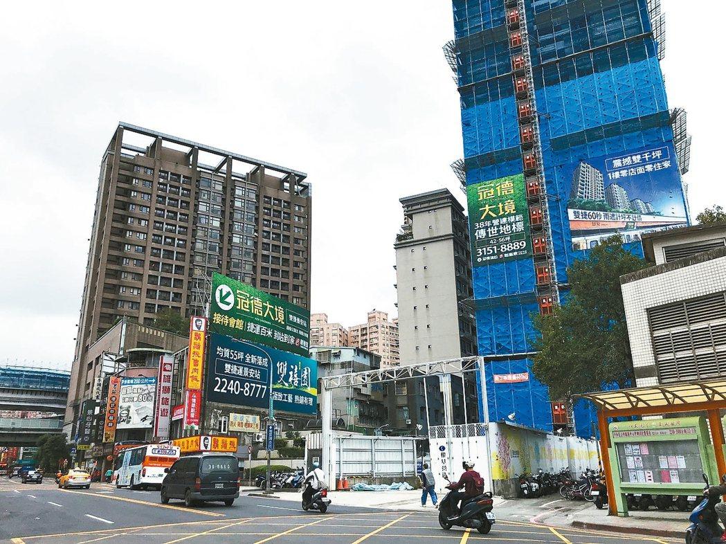 房市燈號維持黃藍燈,已連續兩個月黃藍燈。 記者游智文/攝影