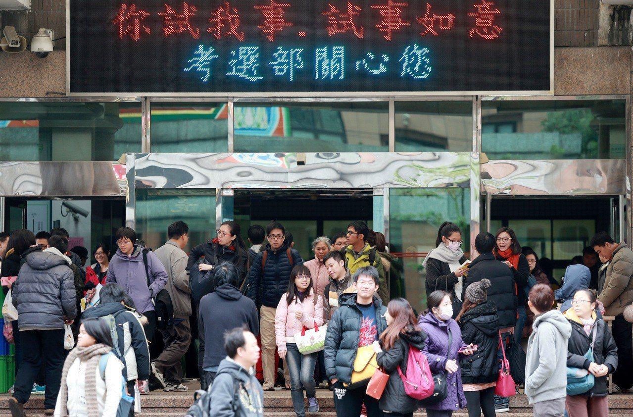 位於台北市文山區的國家考場。聯合報系資料照/記者楊光昇攝影