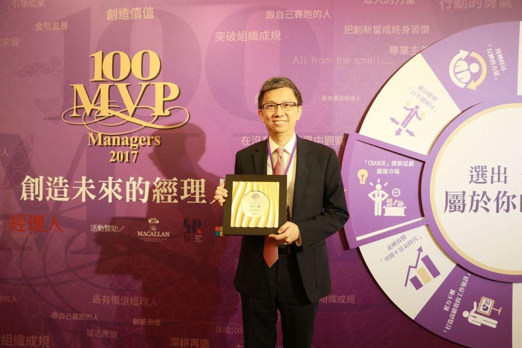 獲得2017年MVP 組織創新經理人獎項的吳仁傑,有信心帶領團隊迎向未來市場的挑...