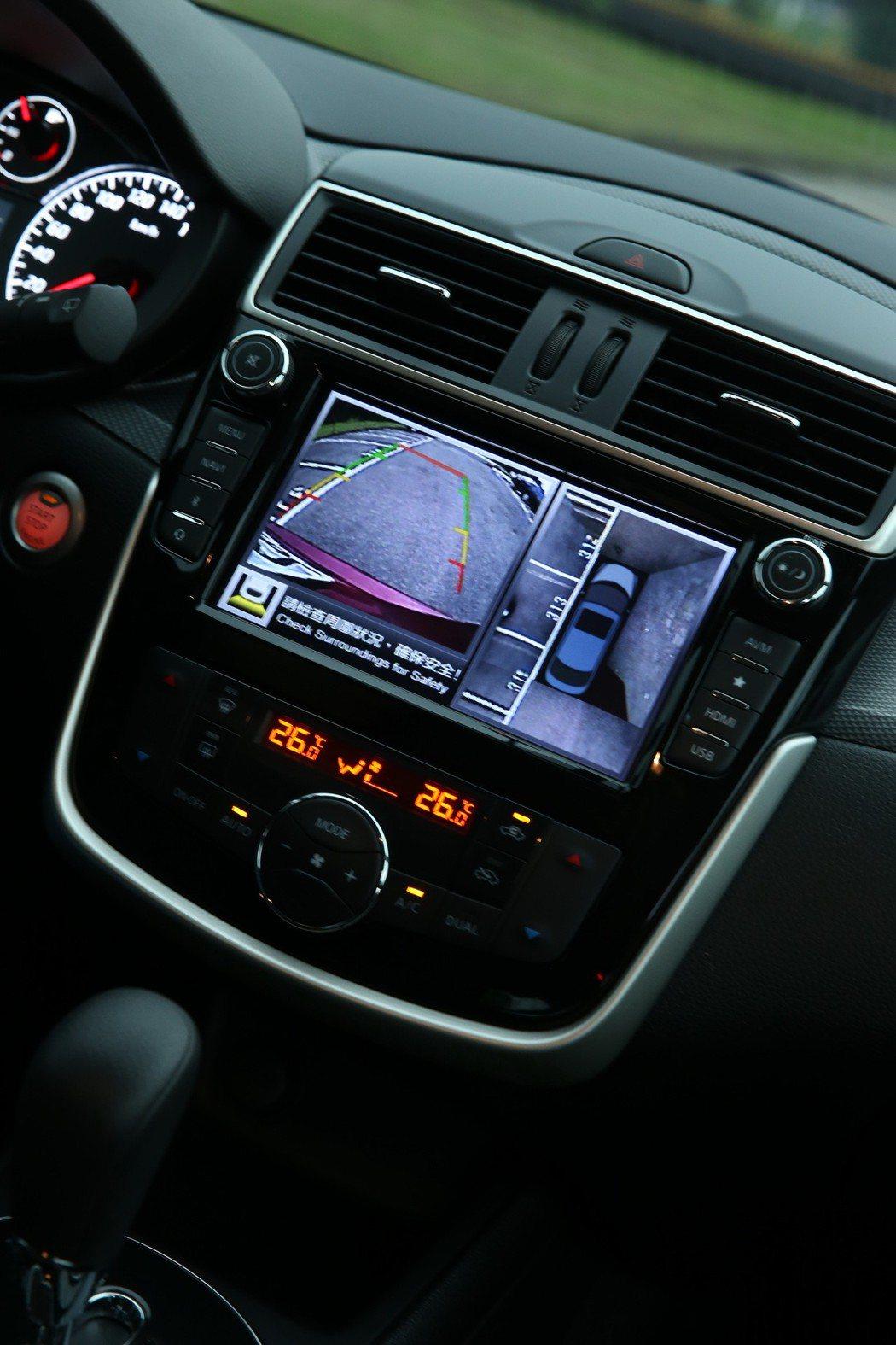 AVM 360度環境影像監控。 記者陳立凱/攝影