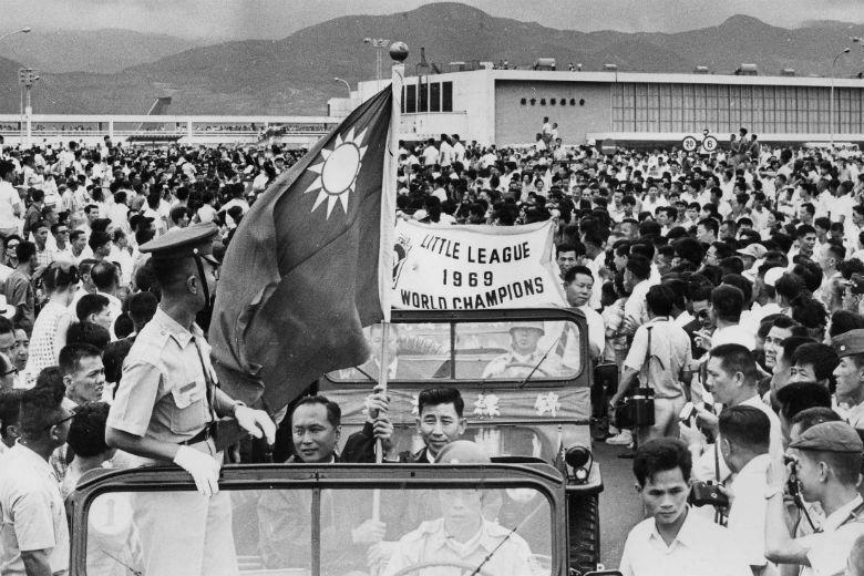 金龍少棒隊凱旋榮歸,攝於1969年。 圖/聯合報系資料照