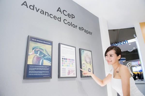 圖四 : 先進式彩色電子紙顯示器(Advanced Color ePaper;A...