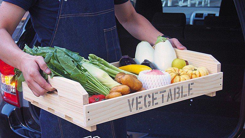 對主廚而言,若一道料理要使用到各地食材必須要分別向各地農作職人下訂 單,窗口繁雜...