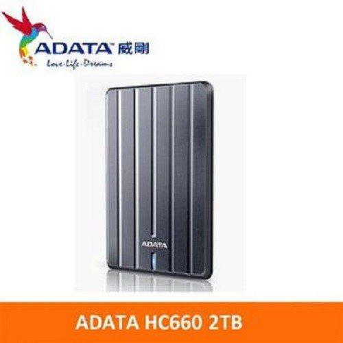 ADATA 威剛 HC660 2TB USB3.1 2.5吋行動硬碟(鈦灰),原...