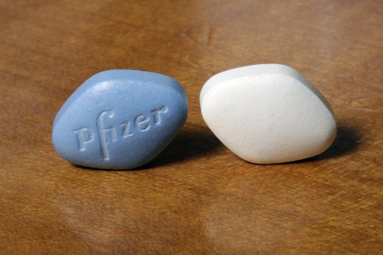 藍色小藥丸「威而鋼」。美聯社