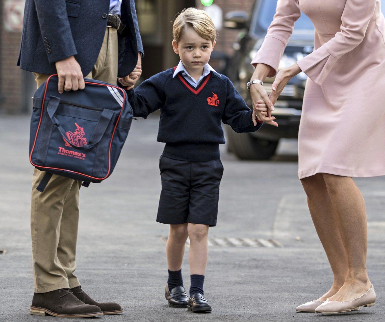 英國喬治小王子。美聯社