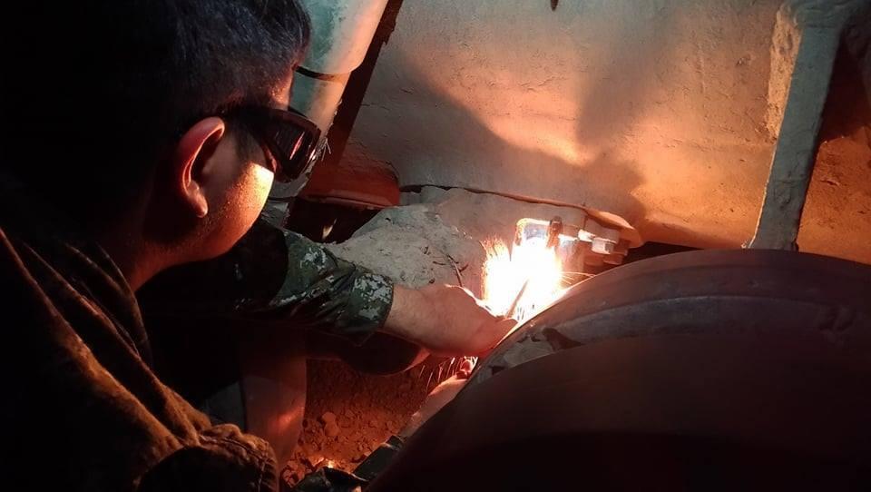 陸軍第5支部前支隊配合機步234旅聯勇操演,整合後勤保修能量,徹夜搶修在越野地形...