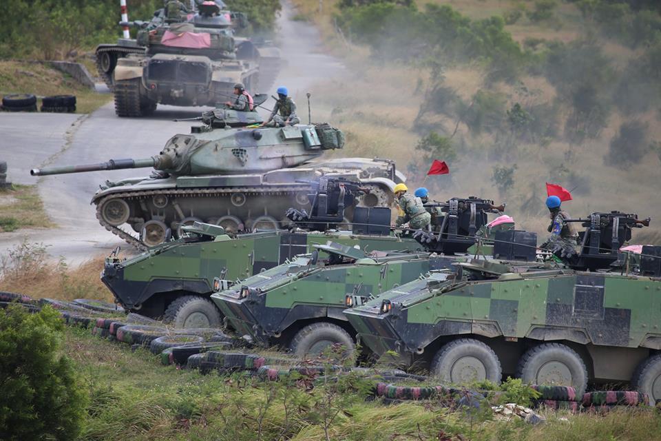 國防部副參謀總長潘進隆中將昨日視導聯勇第106之7號操演,接受測考的陸軍第10軍...