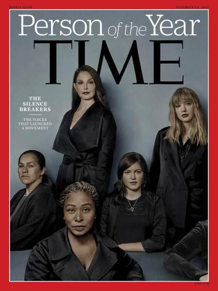 時代雜誌6日公布2017年的年度風雲人物「打破沉默的性侵受害者群」,代表人物:帕...