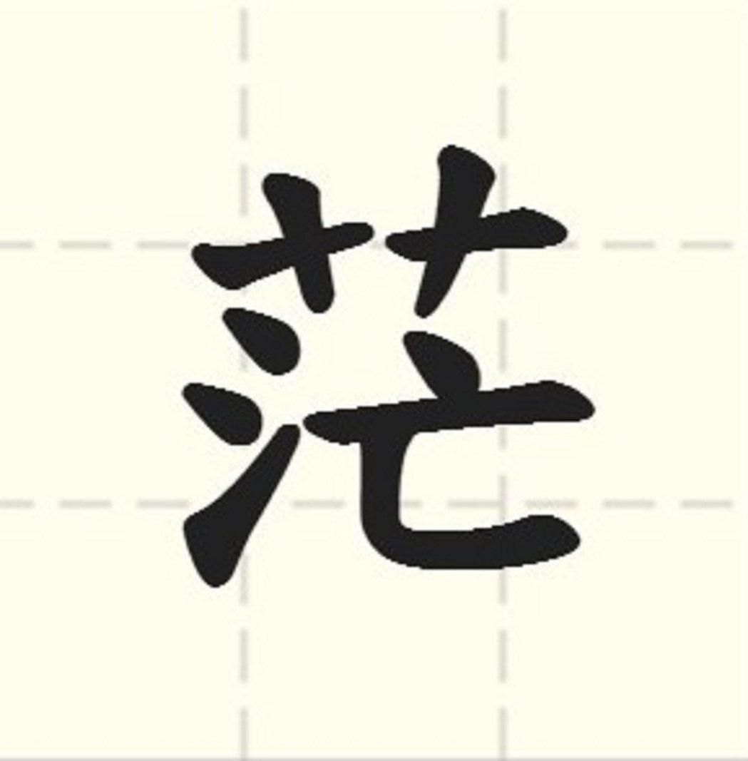 「台灣2017代表字大選」票選結果今天公布,「茫」字在52個候選字中拔得頭籌,獲...