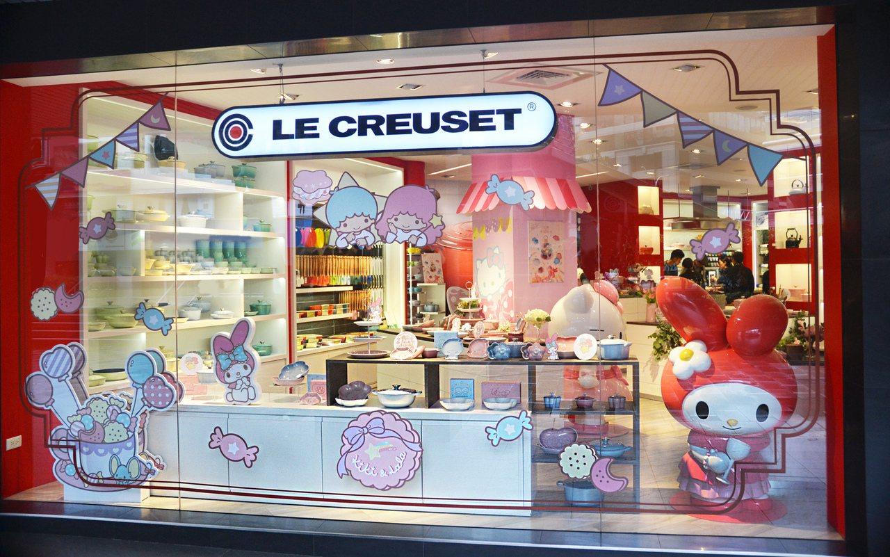 法國鑄鐵鍋品牌LE CREUSET攜手三麗鷗推出一系列可愛的餐瓷器皿。圖/LE ...