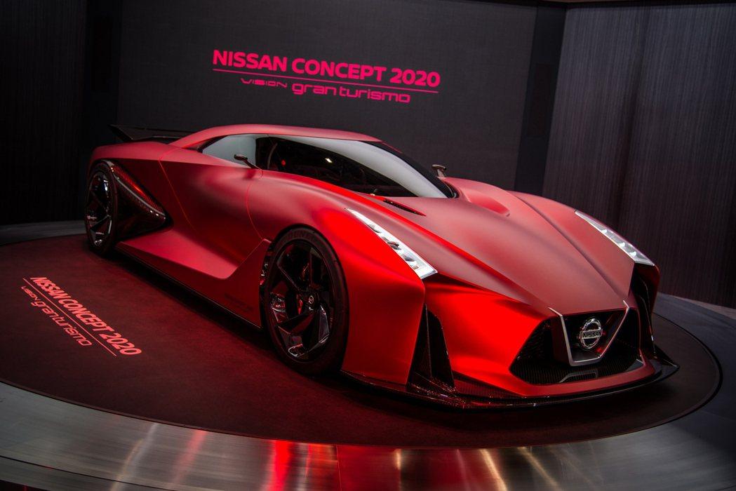 日產原廠打造的次世代概念跑車2020 Vision Gran Turismo,將...