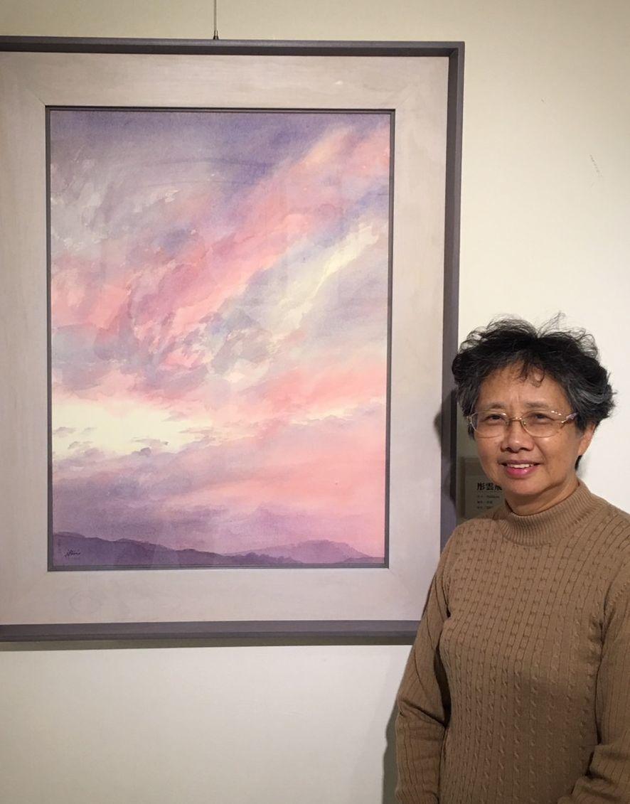 梁丹卉早年以濕畫法見長,兼習國畫西畫,後以水彩為主要媒材。圖/文化局提供