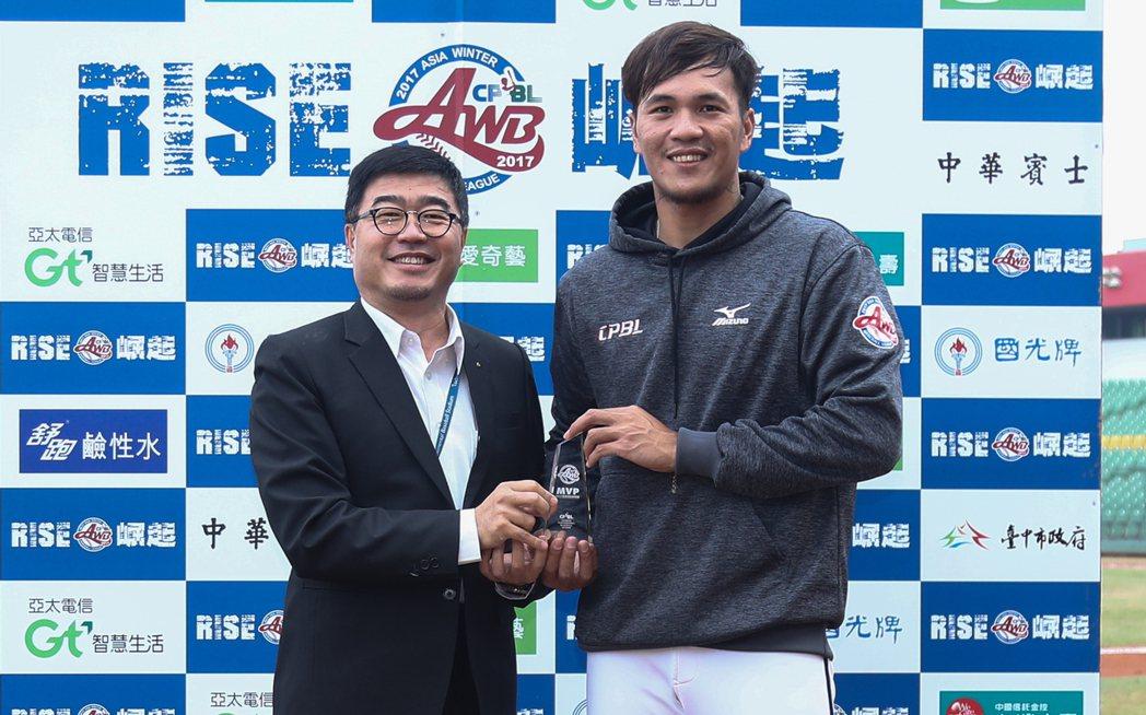 中職聯隊陳敏賜中繼2.1局失1分,獲單場MVP。圖/中職提供