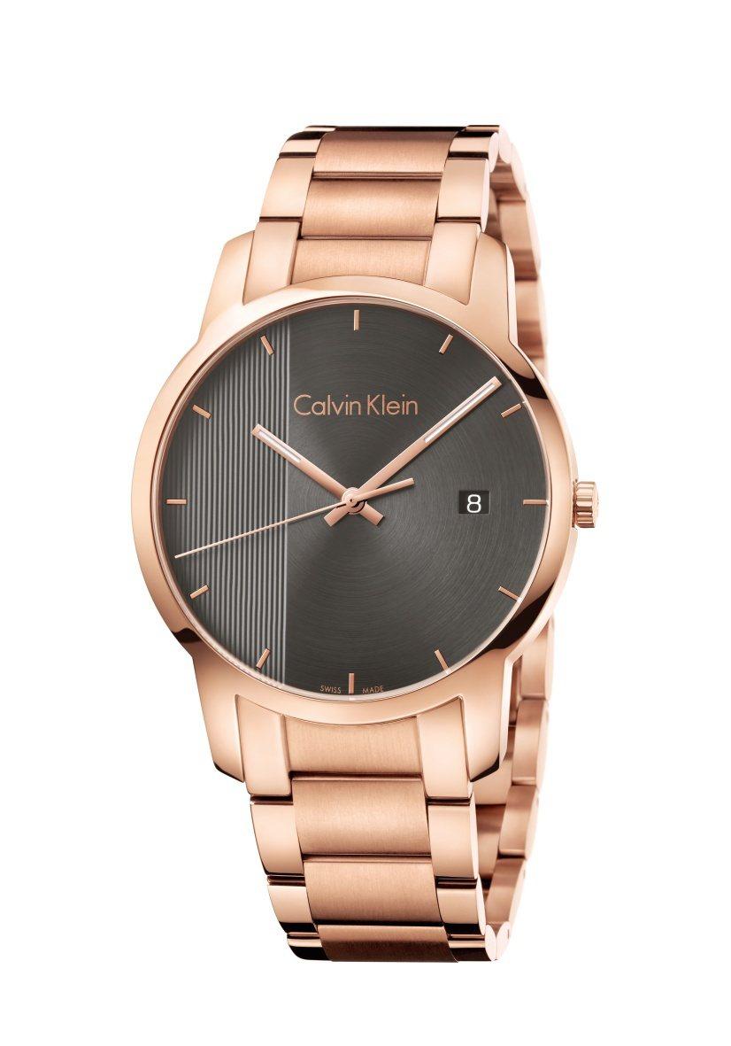 Calvin Klein都會系列腕表,鍍PVD玫瑰金表殼和表鍊,約10,600元...