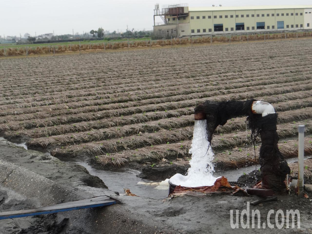 雲林縣政府決定對全縣12.6萬口農用地下水井免徵水權規費2700元,送給農民大紅...