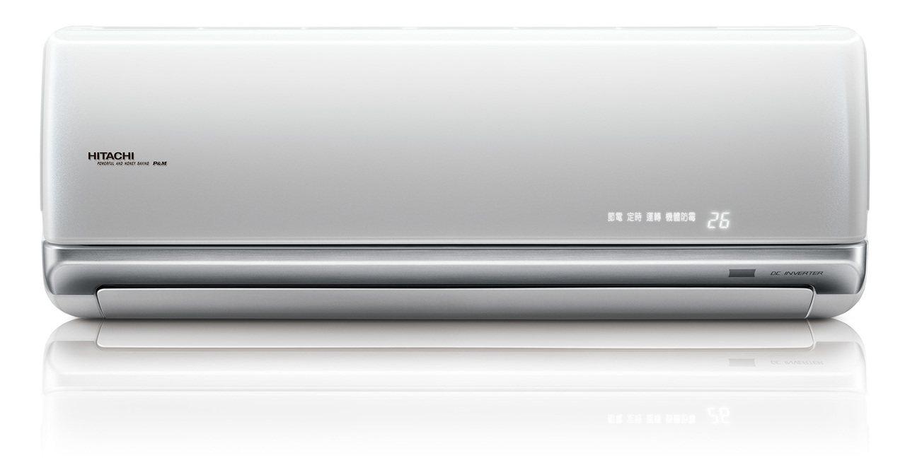 日立變頻冷氣頂級系列,壓縮機日本製造,兼具品質與美感。圖/日立冷氣提供