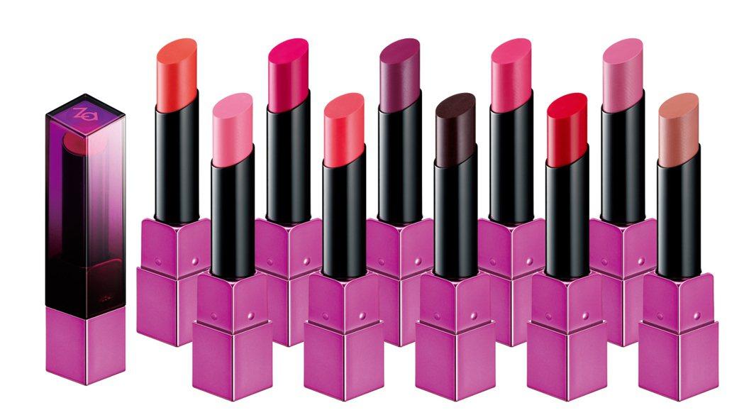 Za日不落驚艷保濕唇膏玫瑰控系列,售價330元,共10色。圖/Za提供