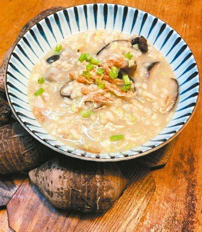 濕冷的冬日,來碗濃郁的芋頭鹹粥吧。 圖/毛奇