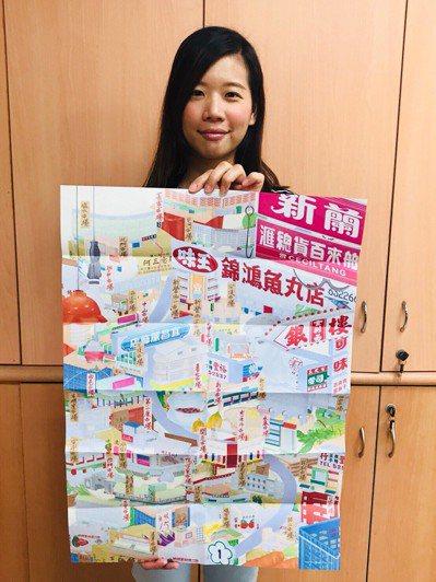 台南市觀光旅遊局推出「踅菜市仔」摺頁,帶領遊客走訪在地傳統市場。 記者鄭維真/攝...