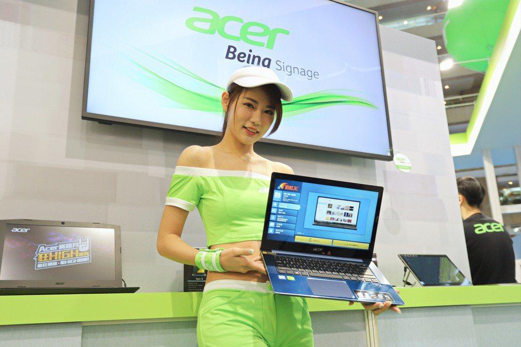 美型超輕薄筆電Acer Swift 5於資訊月推出預購活動。 彭子豪/攝影