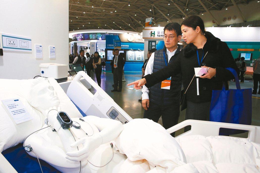 台灣醫療科技展昨天在南港展覽館登場。 記者徐兆玄/攝影