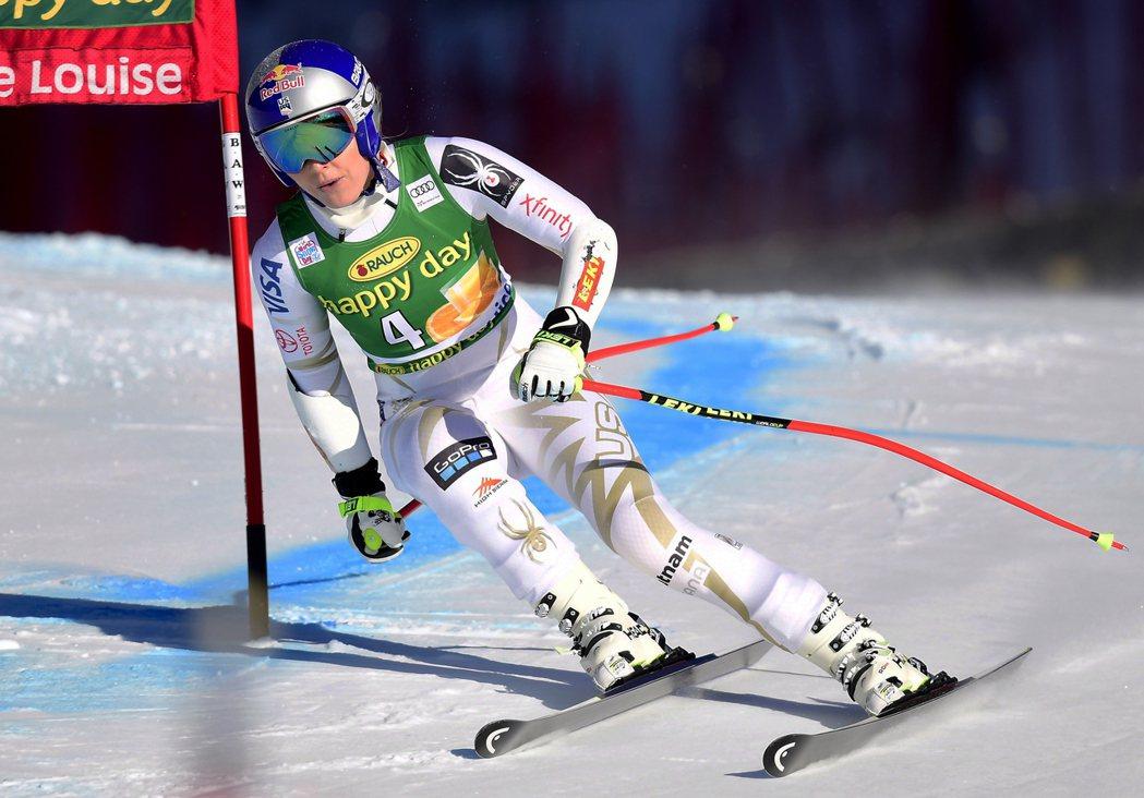 美國奧運滑雪名將琳賽‧馮恩。美聯社