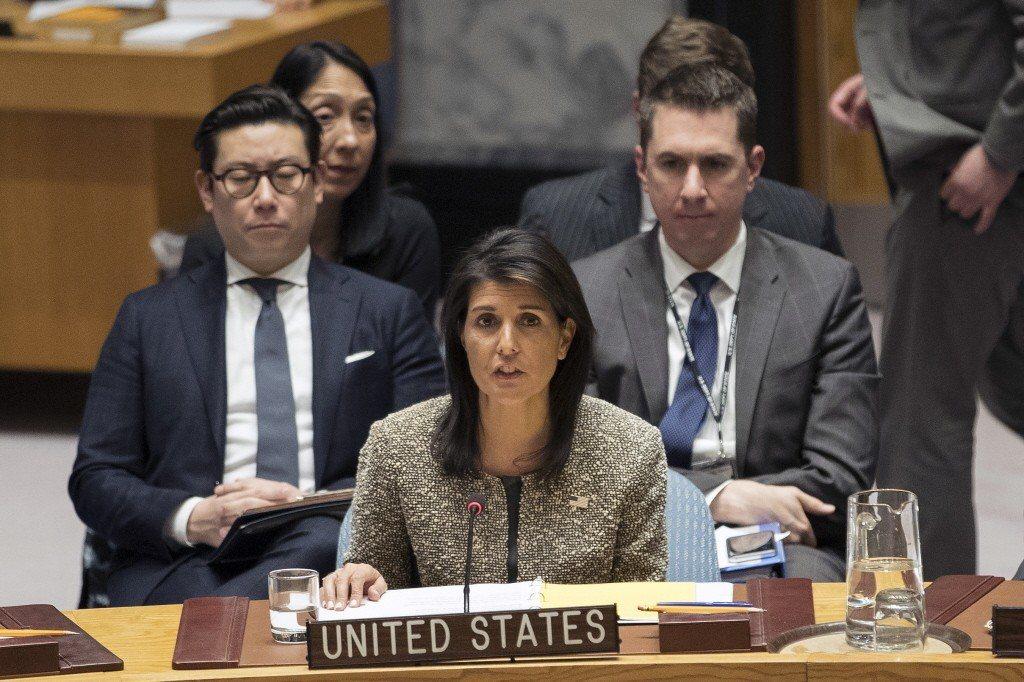 美國駐聯合國大使海理。美聯社